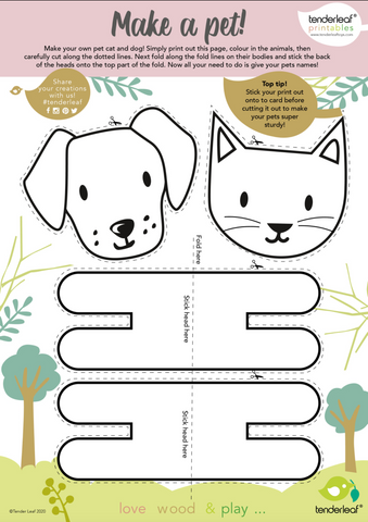 printable,cats,dogs,pet,sets,craft,activity,lockdown