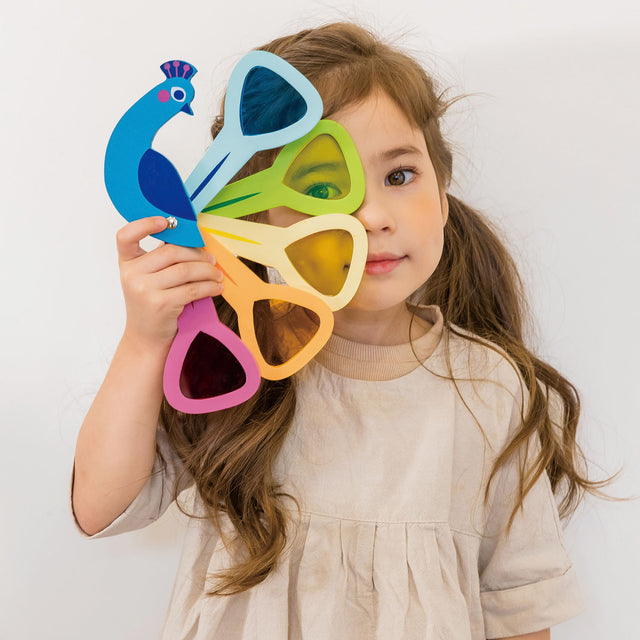 peacock spectrum wooden toy