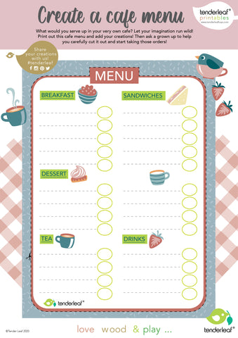 free printable activity for birds nest cafe