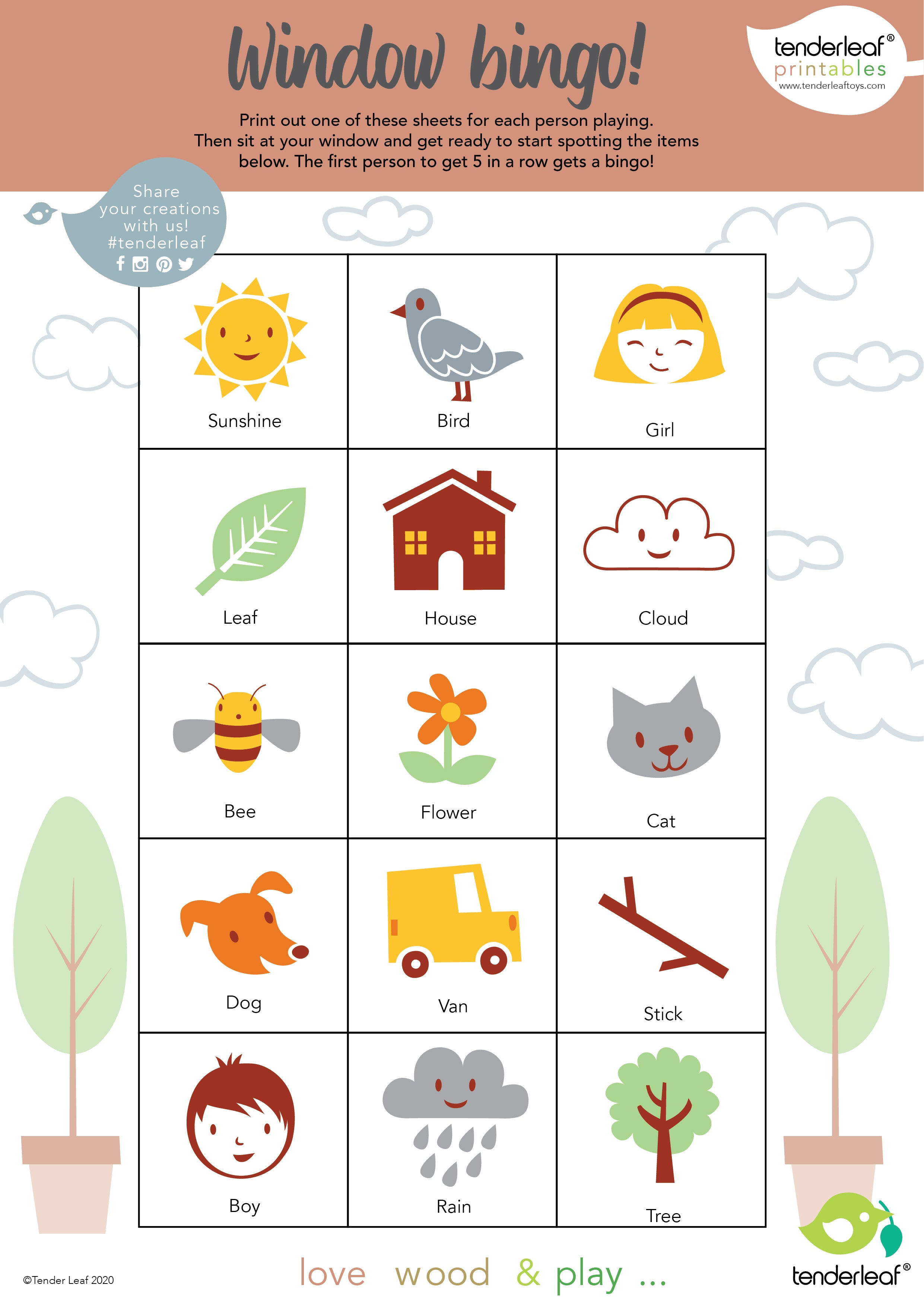 window bingo,lookandsee,printable,free download,children, at home,