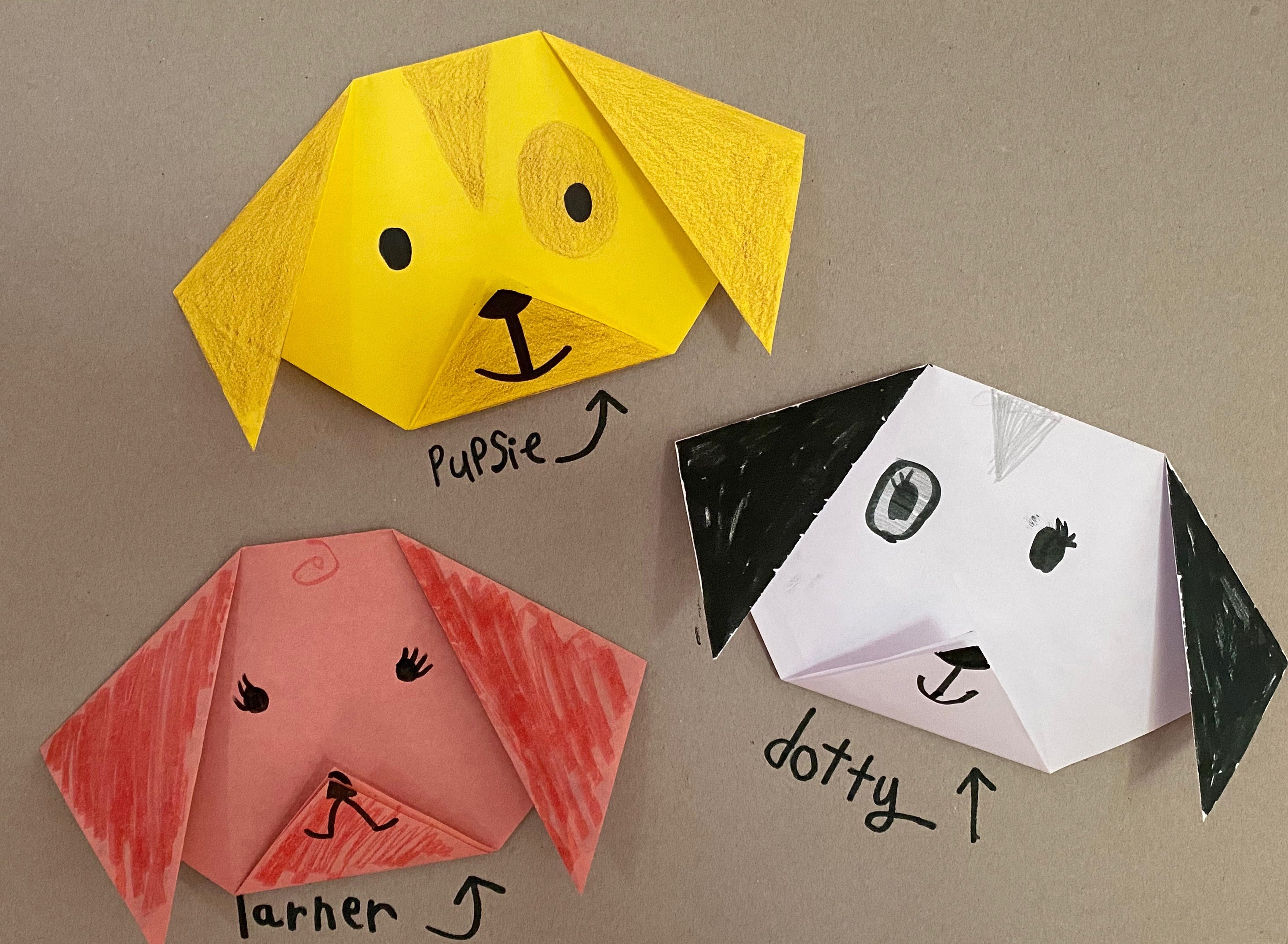 dog, origami,kids,activity,craft,