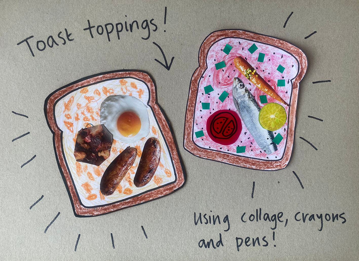 toast,toppings,craft,activity,