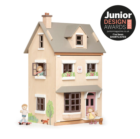 wooden gender neutral dolls house