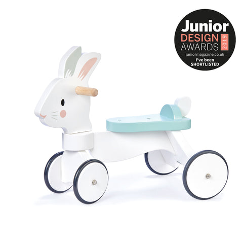 rabbit wooden ride on toy for toddlers