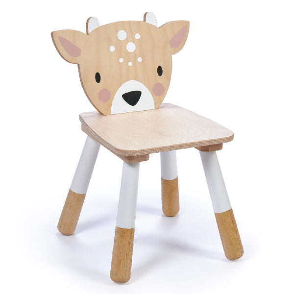 Tender Leaf Toys wooden Deer themed chair for children made from top quality plywood and sustainable rubber wood