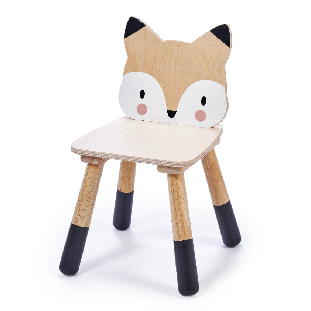 Tender Leaf Toys wooden fox themed chair for children made from top quality plywood and sustainable rubber wood