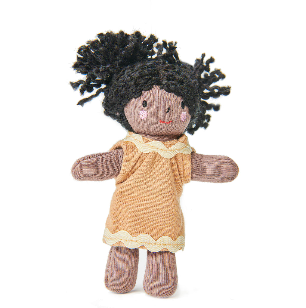 mini gigi bendy wire doll with movable arms and legs for dolls houses plastic-free toys for children