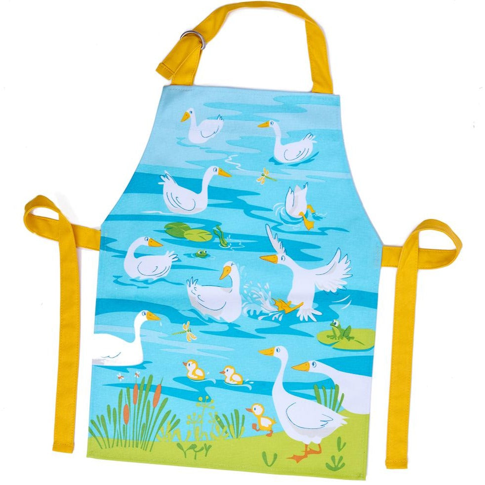 ThreadBear Design Biodegradable animal apron with wipe clean surface, made from 100% cotton and treated with a TPU coating to give a wipe clean surface.