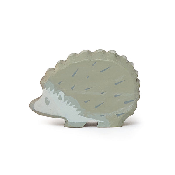 Tender Leaf wooden hedgehog toy in grey
