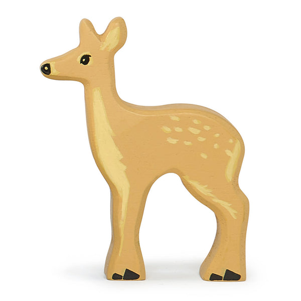 Tender Leaf wooden deer toy in brown