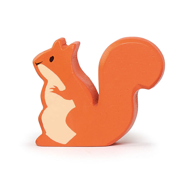 Tender Leaf wooden squirrel toy in brown