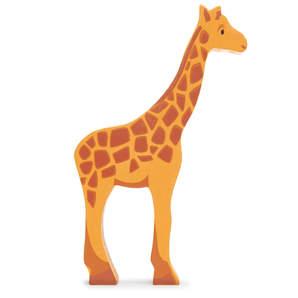 Tender Leaf wooden giraffe toy in yellow