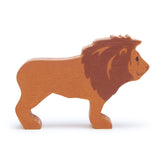 Tender Leaf wooden lion toy in brown