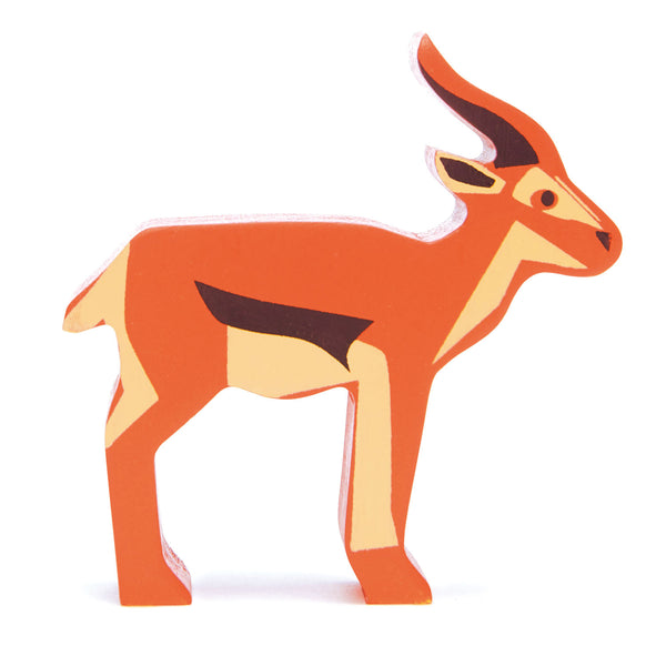 Tender Leaf wooden antelope toy in brown