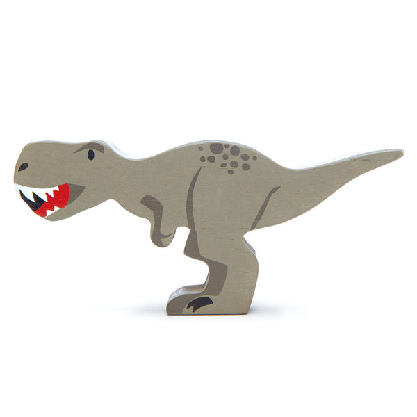 Tenderleaf wooden dinosaur animal toy in grey