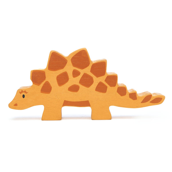 Tender Leaf wooden dinosaur toy in orange