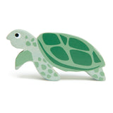 Tenderleaf wooden turtle animal toy in green