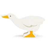 Tender Leaf wooden animal goose toy in white