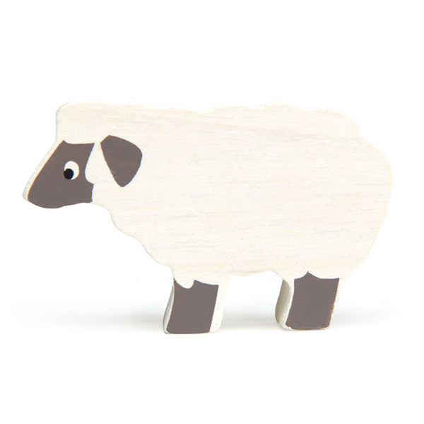 Tender Leaf wooden sheep toy in white