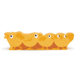 Tender Leaf wooden toys animal chicks in yellow