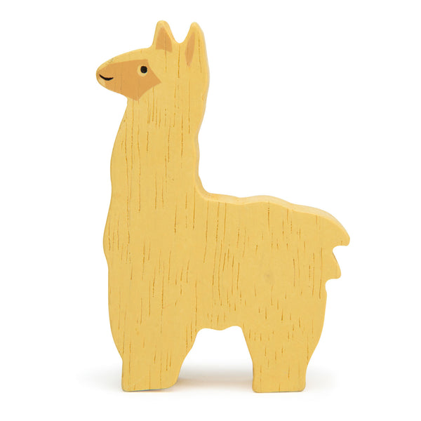 Tender Leaf wooden toys animal alpaca in yellow