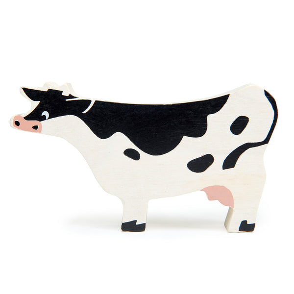 Tender Leaf wooden toys animal cow in black and white