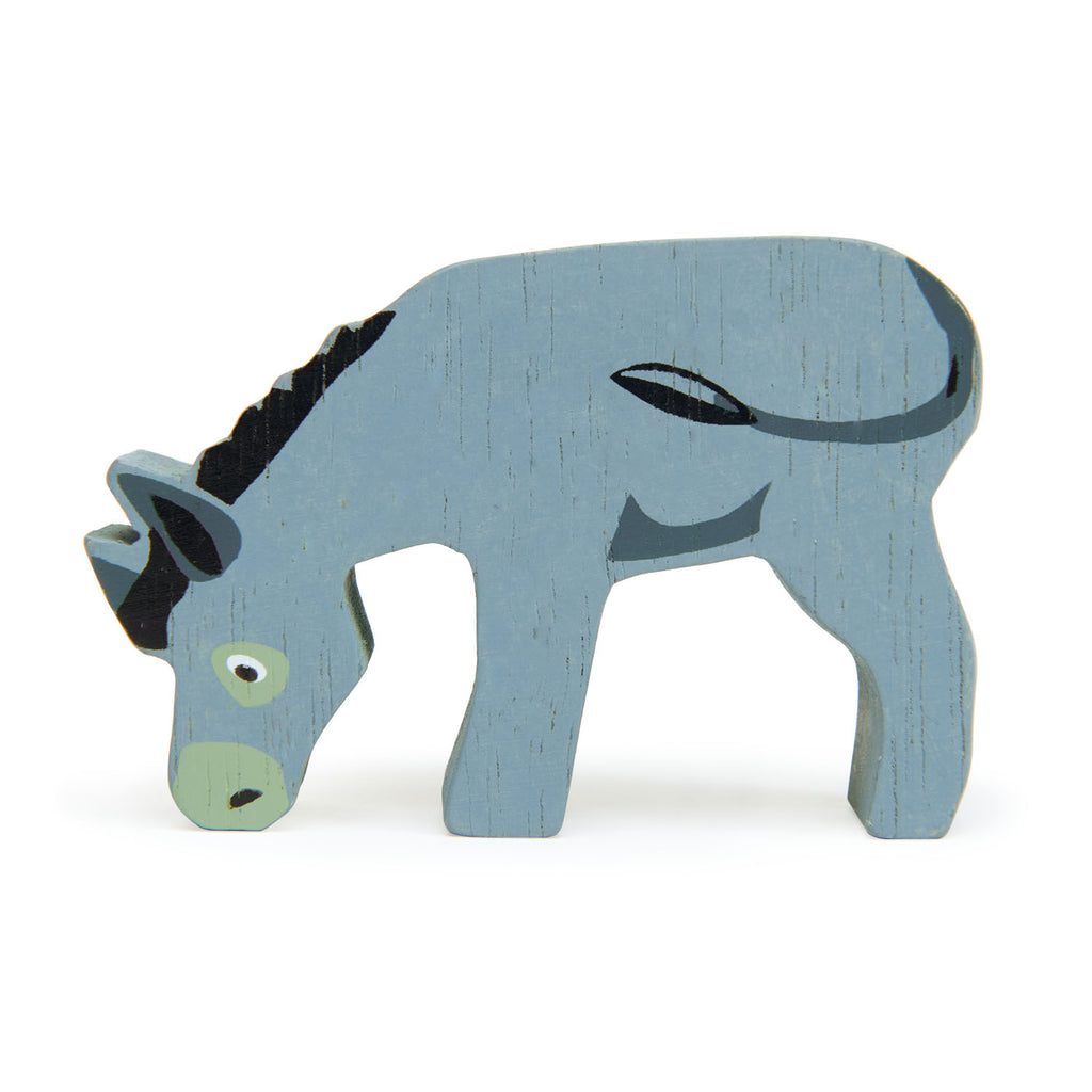 Tender Leaf wooden animal Donkey toy in grey