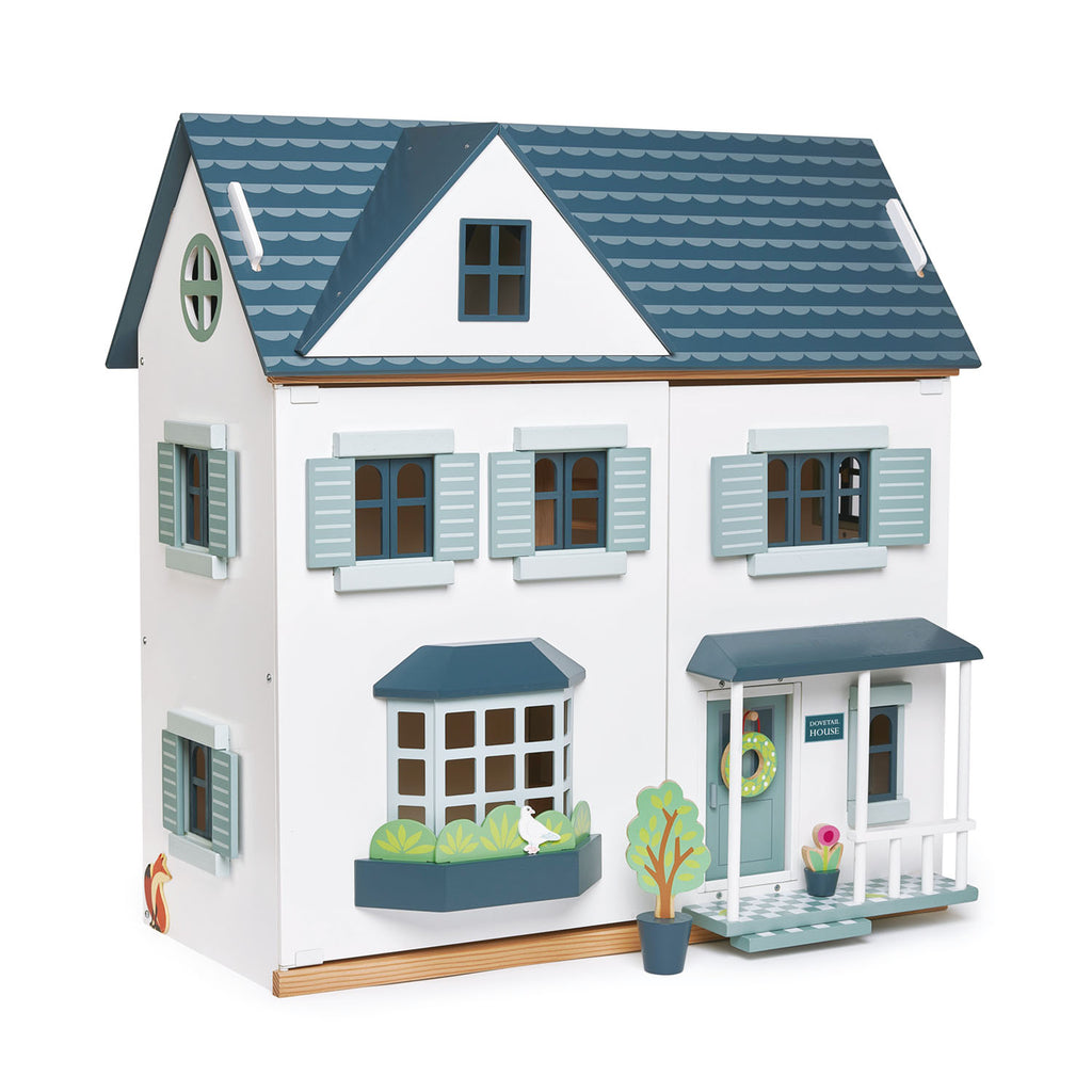 Tender Leaf wooden toy dolls house dovetail house in white