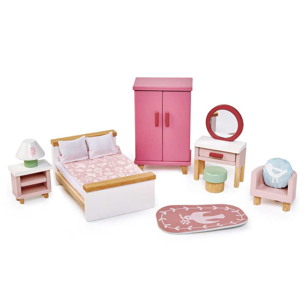 Tender Leaf wooden toys play bedroom furniture set