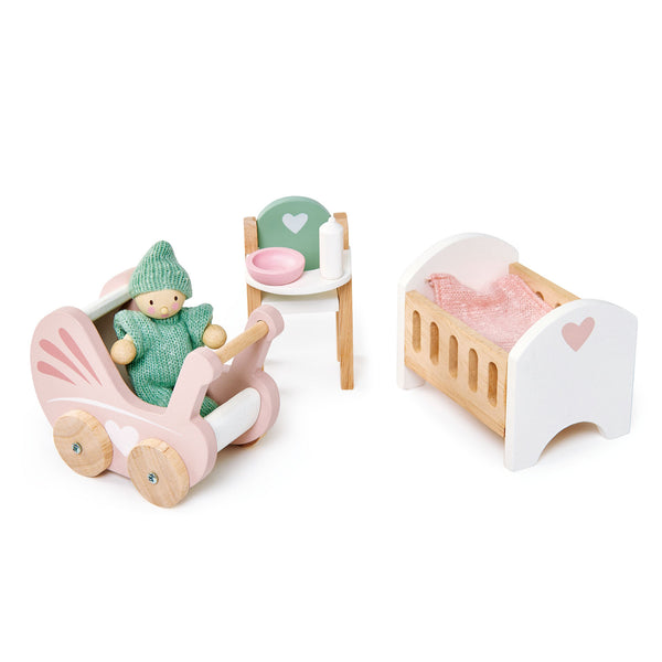 Tender Leaf Toys Wooden Dolls House Nursery Furniture set