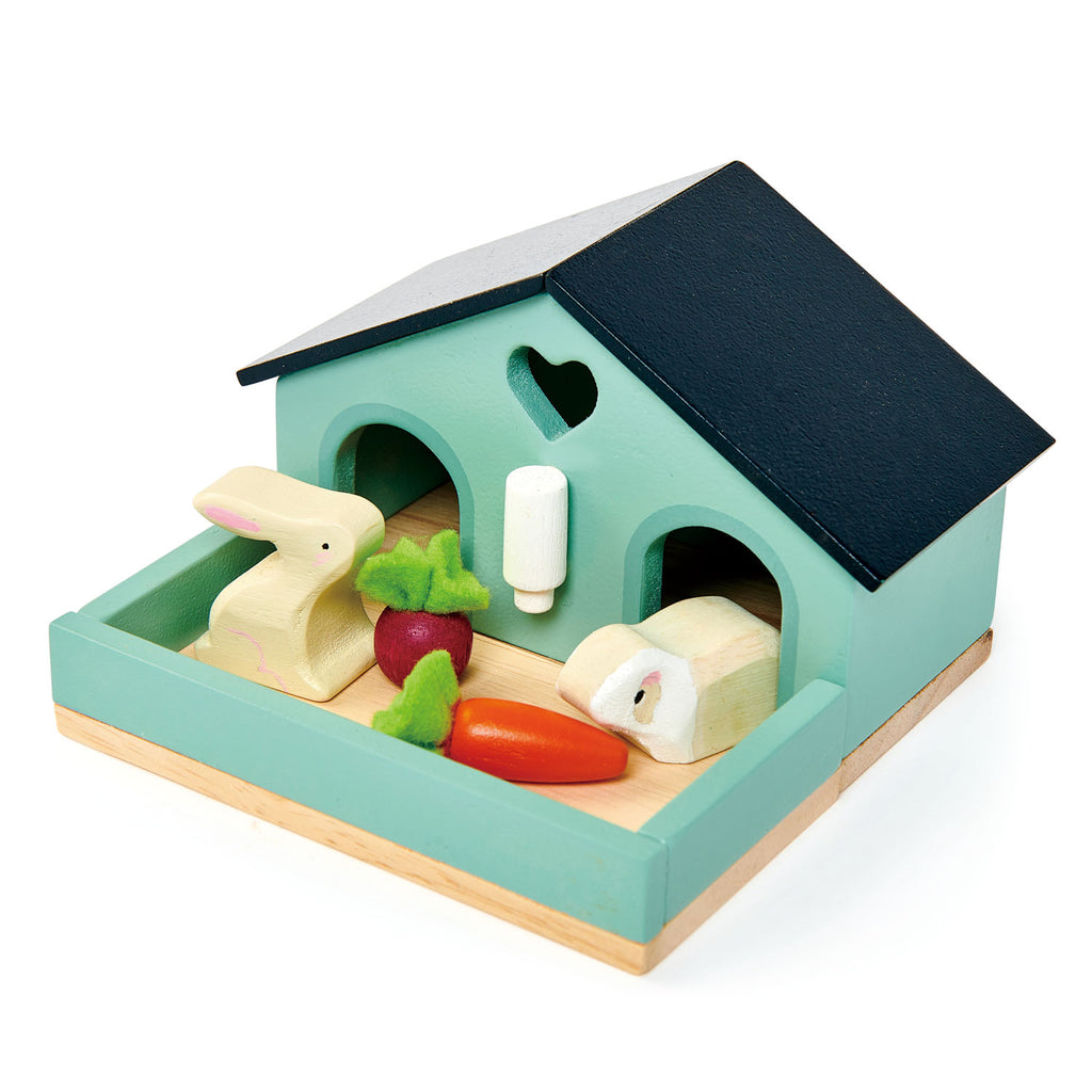 Tender Leaf wooden toys dolls house furniture pet rabbit set