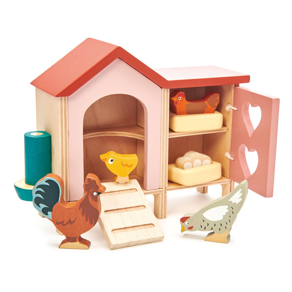 Tender Leaf wooden toys chicken coop dolls house furniture
