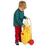 Pull Along Shopping Trolley - Yellow