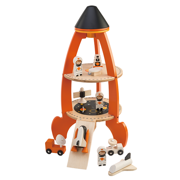 Tender Leaf Toys wooden space rocket set
