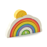 Tender Leaf Toys wooden rainbow tunnel stacking puzzle for children