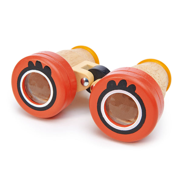 Tender Leaf Wooden binoculars toy with kaleidoscope lenses