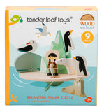 Tender Leaf Toys wooden balancing game polar circle
