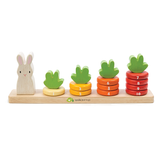 Tender Leaf Toys wooden counting game to educate toddlers. 10 numbered stacking rings designed for child development and learning through play