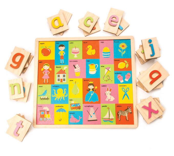 Tender Leaf Toys wooden letter puzzle made from beautiful quality plywood