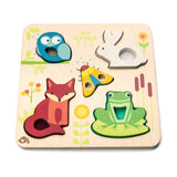 Tender Leaf toys wooden educational puzzle based on woodland animals