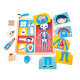 Tender Leaf Wooden toys puzzle with 12 pieces that teaches and explores how the body is made up