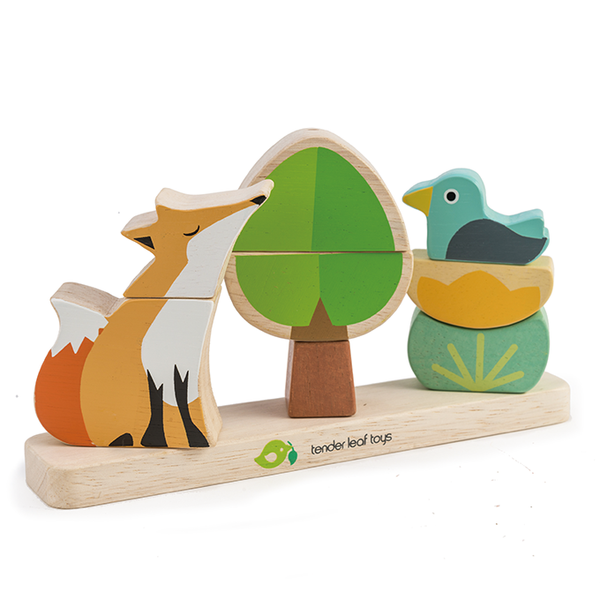 Tender Leaf wooden toy Foxy Magnetic Stacker