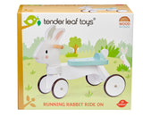 Tender Leaf wooden animal ride on toy for toddlers in white