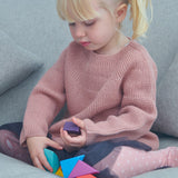 Tender Leaf Toys wooden set of colourful magnetic blocks, made from solid rubber wood and concealed multi directional magnets so always positive attraction