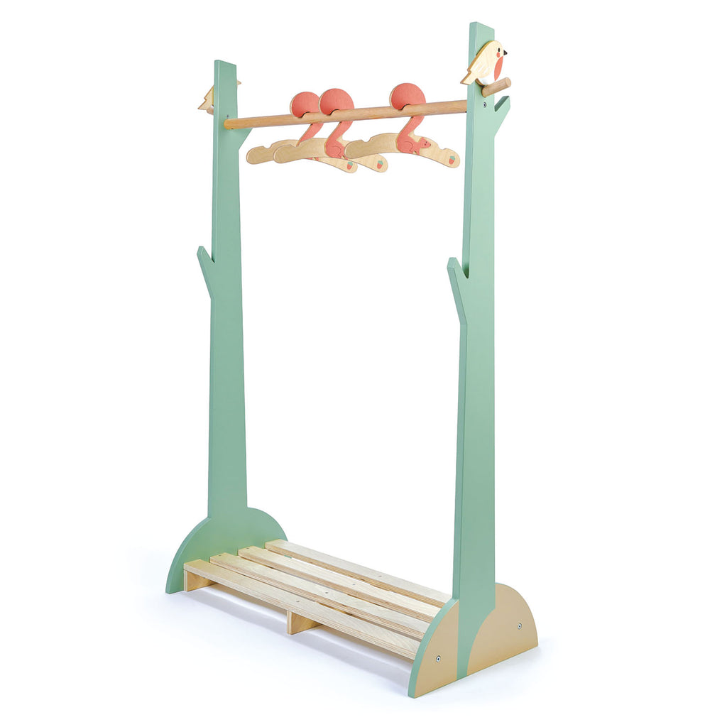 Tender Leaf Toys wooden hanger rail for childrens bedroom
