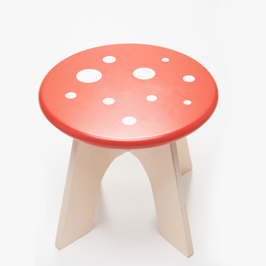 Tenderleaf toys forest furniture toadstool stool chair for the nursery decor for children. Addition to the play table and reminiscent of the woods