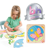 Tender Leaf toys wooden puzzle. Educational as it introduces metamorphosis to your toddler