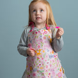ThreadBear Design Biodegradable Aprons with flower garden design in pink