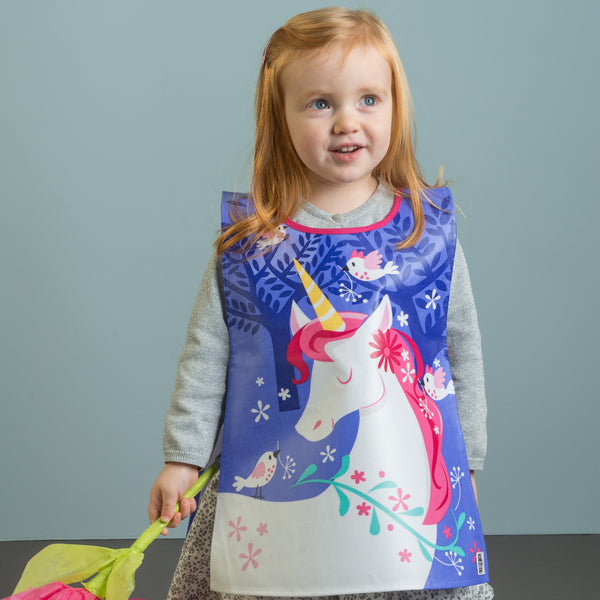 ThreadBear Design Biodegradable Apron tabard with unicorn design in lilac