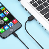 USAMS USB Cable for iphone Micro usb Type-C Phone Charging Cable 1m 0.25m IOS 2A Fast Charger for iPhone iPad Android type c
